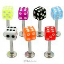 5 16g Dice Labrets/Monroes Lip Rings WHOLESALE Lot BO
