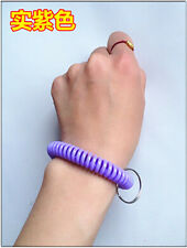 Spiral Wrist Coil Key Chains / New in Sealed Bag / Free shipping purple A18