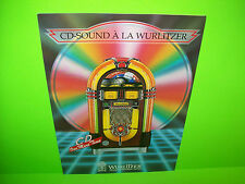Wurlitzer CD ONE MORE TIME Original Jukebox Music Phonograph Sale Flyer Brochure