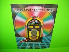 Wurlitzer CD ONE MORE TIME Original Jukebox Music Phonograph Sale Flyer Brochure