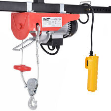 440lbs Mini Electric Wire Hoist Remote Control Garage Auto Shop Overhead Li