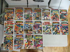 MARVEL PREMIERE 18 ISSUE BRONZE COMIC RUN LOT 27-45