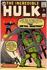 The Incredible Hulk v1 6 Marvel Comics USA 1963 S. Lee Steve Ditko Metal Master