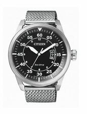Citizen Eco-Drive Watch AW1360-55E St. Steel Mesh 45mm Case WR 10ATM RRP $399