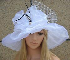 Womens Kentucky Derby Wide Brim Sun Dress Church Wedding Hat A342