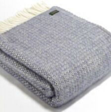 TWEEDMILL Illusion Lavender & Sage Pure New Wool Blanket Throw Made In The UK