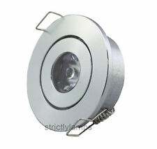 Techo Led Down Light 1w Gabinete undershelf inclinación ajustable Downlight Nuevo