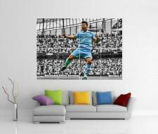 SERGIO KUN AGUERO MAN CITY MANCHESTER GIANT WALL ART PHOTO PICTURE PRINT POSTER