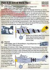 Print Scale Decals 1/72 PFALZ D.III ACES German World War I Fighter