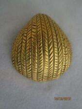 BIG VINTAGE MMA / BMCo GOLD PLATED FIGURAL SEA SHELL/ CLAM SHELL PIN /PENDANT