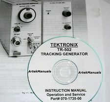 Tektronix Ops & Service Manual w/Schematics for the TR502 Tracking Generator