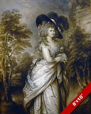 GEORGIANA DUCHESS OF DEVONSHIRE EXETER ENGLAND PAINTING ART REAL CANVAS PRINT