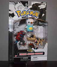 ZOROARK, SANDILE & OSHAWOTT ~ POKEMON 3 FIGURE MULTI-PACK 2011 ~ NEW MOC MIB