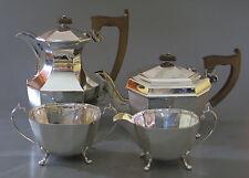 4 TEILIGES STERLING SILBER TEE- UND KAFFEESERVICE SHEFFIELD 1937 TOP ZUSTAND