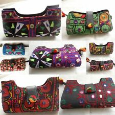 5 pcs Lot Indian Clutch Bag Vintage Women Purse Embroidered Tribal Bag Boho Bag
