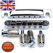 Chrome Guitar Tune-O-matic Bridge Tailpiece Tail For Les Paul LP Style Set