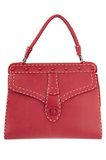 Valentino Red Leather Top Handle Tote