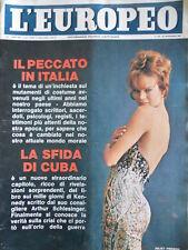 L' EUROPEO n°39 1965 Juliet Prowse - Carol Wells - Il Peccato in Italia  [C76]