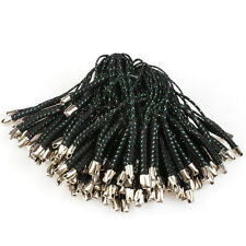 100x Black Braided Cellphone Mobile Phone Straps Lariat Lanyards 7cm 130286