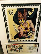 Hawkman USPS 1st DAY Issue SDCC 2006 Limited Edition Matted Poster 16 X 12 NEW