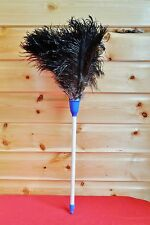 "Special price 22"" Ostrich Feather Duster, with 14"" white plastic handle useful"