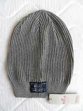 REPLAY Italy Long Grey Cotton BEANIE Toque Tags Hat UNISEX Hat Slouchy Mens Z13