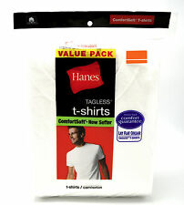 24 White M 38-40 Inch Hanes Tagless Comfortsoft Crew Neck T-Shirts M 95-100 CM