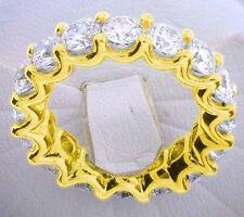 "2.20 ct Round Diamond Eternity Ring 18K Yellow Gold Band 0.10 ct each ""U""shape"
