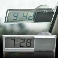 Mini LCD Display Digital Clock w/ Suction Cup For Auto Car Dashboard Windscreen