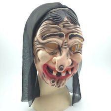 Halloween Masquerade Scary Creepy Old Witch Latex Mask Costume Props Fancy Dress