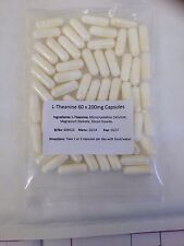 L-THEANINE  -  200mg x 60 Capsules/pills - 1 x 60 pack - Amino Acid,