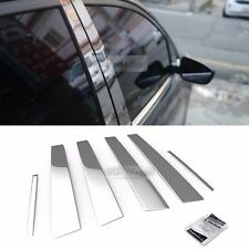 Stainless Steel Chrome Window Pillar Molding 6P For HYUNDAI 2002-2006 Elantra XD
