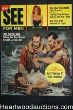 See For Men Sep 1957 Jayne Mansfield, Tina Louise, Elvis Presley, Saunders,  - U