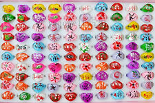 Wholesale jewelry mixed lots 20pcs children Heart resin rings free shipping