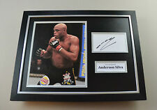 Anderson Silva Signed Photo Framed 16x12 UFC Autograph Display Memorabilia + COA