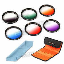 6pcs 67mm Graduated Color Lens Filter Kit For Canon EOS 1200D 100D 600D 18-135