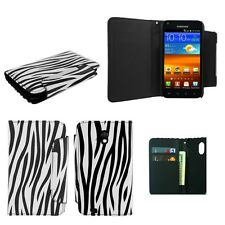 ZEBRA PU LEATHER WALLET POUCH CASE FOR SAMSUNG GALAXY S2 EPIC TOUCH D710 +COMBO