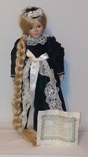 "BARONET GUILD COLLECTION ""RAPUNZEL"" DUCK HOUSE PORCELAIN DOLL WITH STAND"
