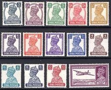 INDIA, SET OF 14, SG265 - 277, MOUNTED MINT, 1940 - 43