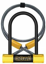 "OnGuard Bulldog Mini DT 8015 Bike U-lock & 4' Cable 3.5x5.5"" Hardened 2X Locking"