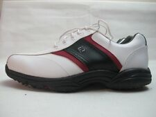 Mens FootJoy SoftJoys White Black Red Golf Lace Up Sport Shoes Uk 9 EUR 43 M