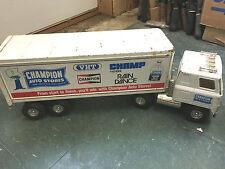 BS7 RARE! Big Ertl Champion auto stores semi tractor trailer model 3248 steel