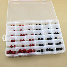 Adjustable 36 Compartment Plastic Storage Box Jewelry Bin Earring Case Container