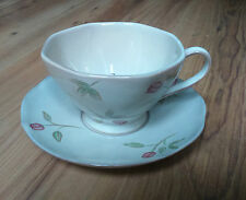 Whittard of Chelsea Stoneware Breakfast Tea Cup & Saucer Rose Buds Rosa 2005 VGC