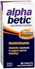 alpha betic Multi-Vitamin Caplets 30 Caplets (Pack of 4)