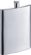 Visol Ultra Slim 2 oz Ultra Slim Stainless Steel Flask, New in Box