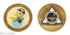 """NAVY NAS NAVAL AIR STATION JACKSONVILLE DONALD DUCK NEPHEW  1.75"""" CHALLENGE COIN"""