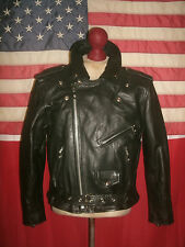 Men's  MANZOOR  Motorcycle Cruiser Leather Jacket . Size M