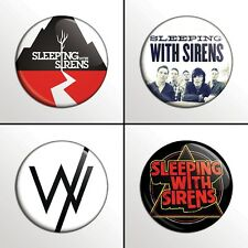 "4-Piece SLEEPING WITH SIRENS (#1)  1"" Pinback Band Buttons / Pins / Badges Set"
