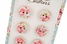 New Vintage Style Flower Floral Wild and Free Pack of Buttons